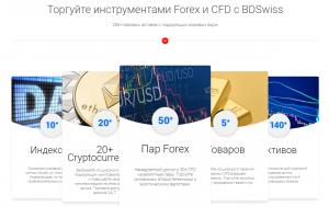 инструменты торговли bdswiss